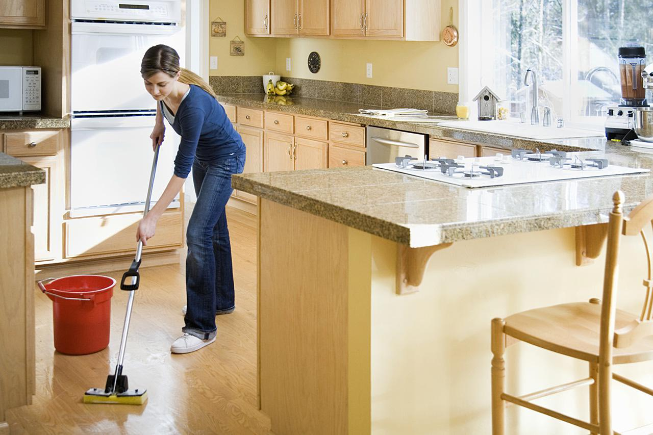 Vacuum is not enough, you have to mop the floors to keep it shiny.